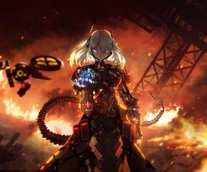 Anime Cyborg Girl 4k Live Wallpaper Mylivewallpapers Com