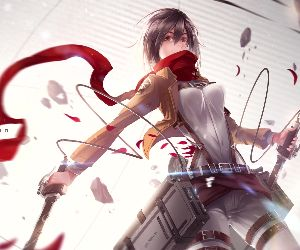 Mikasa Ackerman Attack On Titan Live Wallpaper Mylivewallpapers Com