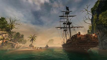 Pirate Ship Animated Wallpaper