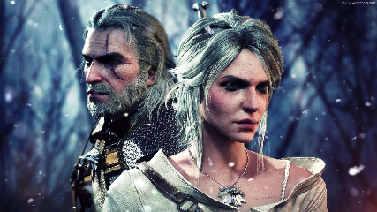 Ciri Geralt The Witcher 3 Animated Wallpaper Mylivewallpapers Com
